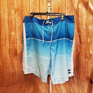 "Billabong Men's Blue Board Shorts Sz 36""W"